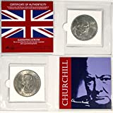 1965 UK WINSTON CHURCHILL BRITISH CROWN COIN IN MINI ALBUM with Certificate of Authenticity - Prime Minister of Great Britain during World War