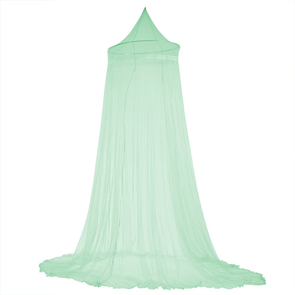 Bed Mosquito Net, Dome Elegant Lace Ceiling Princess Bed Mosquito Netting Girls Room Bedding Hanging Mosquito Net(Green)