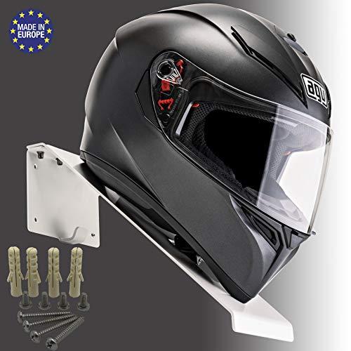 BESTUNT Helmablage Helmhalterung | Für Motorrad Halter Regal Rack Lagerung Fixierung | Berg an der Wand | Weiß