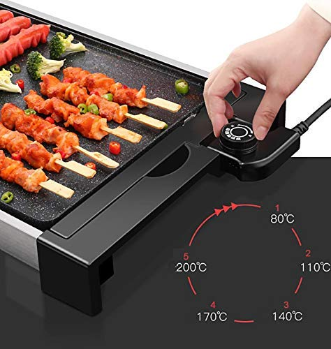 51waoBjHmmL - WJJJ BBQ Baking Tray Maifanshi Elektrischer Baking Pan Non-Stick Grill Tray Multi-Function Household Grill Tray Removable Washable