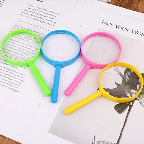 FYYONG 60 mm portátil de Mano Lupa Lupa de Aumento 3X Lectura Lente de Cristal de niños de Juguete Color al Azar Instrumentos y aparatos