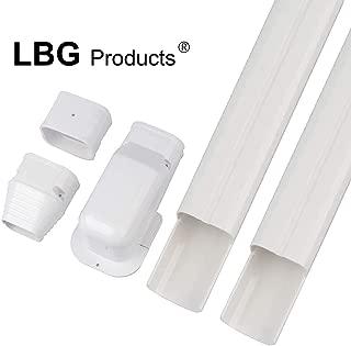 AC Parts Decorative PVC Line Set Cover Tubing Kit for Central Air Conditioner, Heat Pump, Ductless Mini Split (3''W 7.5ft L)