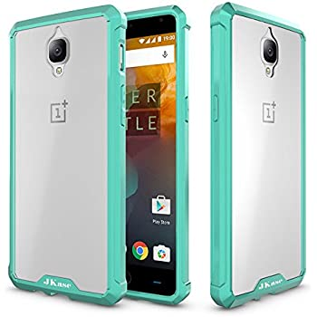 JKase OnePlus 3T/OnePlus 3 Case, Scratch Resistant Lightweight Hybrid Clear Back Panel Protective Cover Case for OnePlus 3T, OnePlus 3 (Mint)
