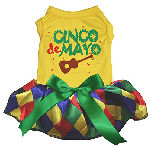 Petitebelle Cinco De Mayo Gitarren-Tutu für Hunde und Welpen