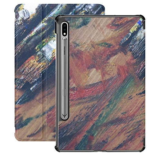 Arte Suministros de Arte Artista Cepillo Azul Color Creativo Samsung Galaxy Tab S7 Cubierta de Libro para Samsung Galaxy Tab S7 / s7 Plus Funda Samsung Funda Trasera con Soporte Funda Samsung S7 para
