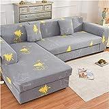 wjwzl Sofabezug, Eine Polyesterfaser, Elastische Schutzhülle Cartoon Für Die Meisten Zu Hause Grau Schonbezug190-230Cm