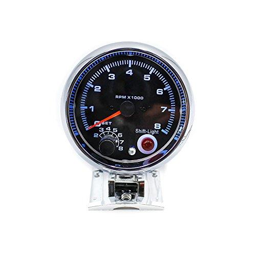 KKmoon 12V Tacometro Medidor 3.75 Pulg 0-8000 RPM con 7 Colores LED Luz para Coche