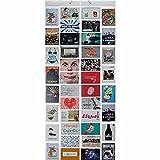 GOODS+GADGETS Fotovorhang XXL Bildervorhang Photo-Vorhang mit 40 Taschen für 80 10 x 15 cm Fotos Postkarten Motivkarten - Duschvorhang Fotogalerie; Milchig-Photoshop-Optik