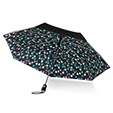 totes Canopy Print Auto Open Close Umbrella, Raindrops