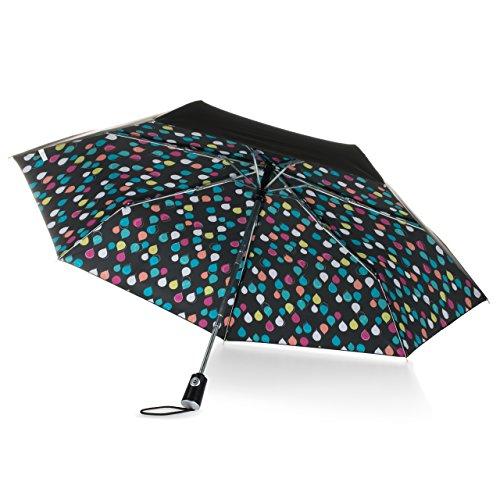 totes Canopy Print Auto Open Close Umbrella, Raindrops