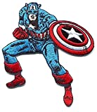 Captain America Stance Embroidered Iron-ON Patch mvl4 Marvel Comic