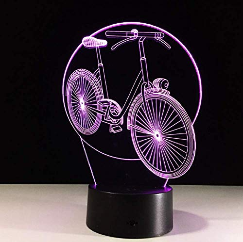 Lámpara De Mesa Usb Táctil Con Luz Led Visual 3D De Bicicleta De 7 Colores, Lámpara De Mesa Usb Para Dormir, Decoración Del Hogar, Altavoz Bluetooth Creativo
