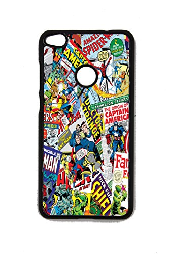 Cover Huawei Fumetti Supereroi Collage P8 P9 P10 Lite 2017 Alta QUALITA' (Huawei P8 Lite 2017)