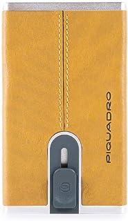 PIQUADRO Black Square Porta carte di credito RFID pelle 6 cm