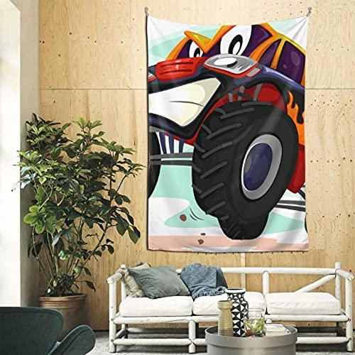 N\A Tapiz de Pared de Dibujos Animados Monster Truck Tapiz para Pared Arte de Pared para apartamento Dormitorio telón de Fondo decoración del hogar