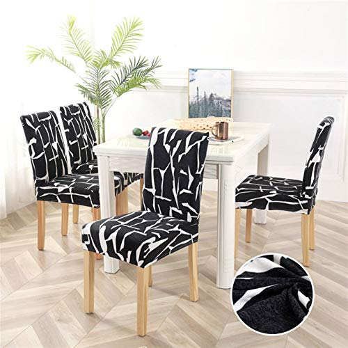 Dining Chair Pad 1/2/4/6pcs Geometric Chair Covers Spandex Elastic Stretch Decoration Chair Dining Seat Cushion Anti-dirty Washable Seat Pad (Color : Pattern 19, Specification : 1piece)
