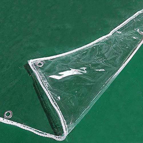 Lona Transparente, Película De Vidrio De Plástico Blando Impermeable, Calor, Grosor Del Parabrisas 0,3 Mm, Tamaño Personalizado 350 G / M² (color: Transparente, Tamaño: 190(Size:230x280cm,Color:Claro)