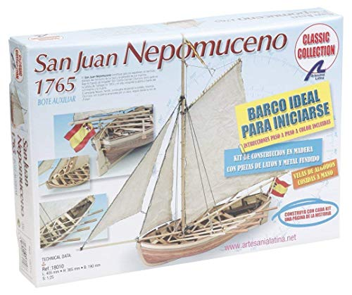 Artesanía Latina 18010. Maqueta de Barco en Madera. Lancha Nepomuceno 1/25