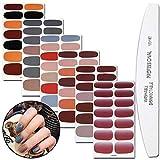 WOKOTO 6 Sheets Solid Color Nail...