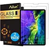 Ailun Screen Protector for iPad Pro 11 Inch Display 2018&2020 2Pack 2.5D 0.25mm Tempered Glass,Face ID & Apple Pencil Compatible Anti Scratch Case Friendly