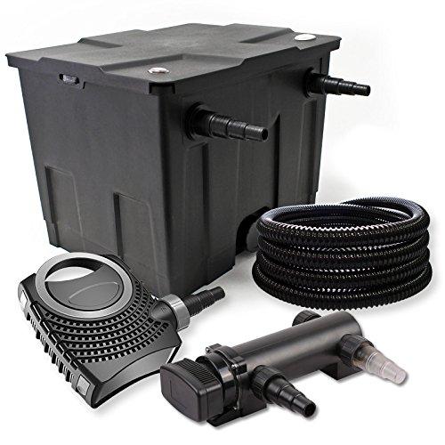 SunSun 1-Kammer Filter Set 12000l 18W UVC 3er Teich Klärer NEO8000 70W Pumpe Schlauch