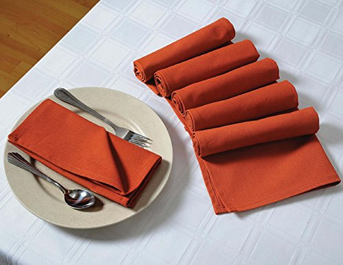 Purchase ShalinIndia Cloth Napkins Set for Lunch - 18 x 18 - Rust - Yellow - Set of 100 - Perfect ...