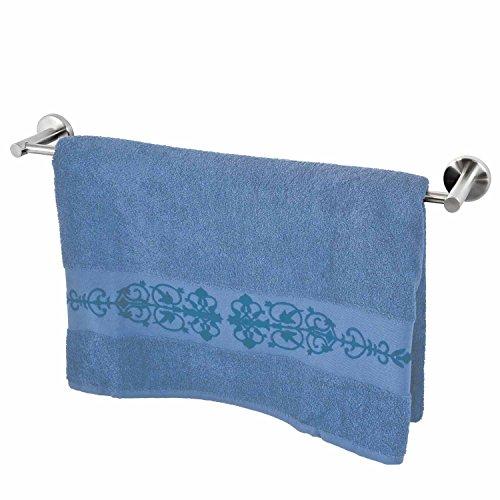 Série salle de bain bremermann® PIAZZA - porte-drap de bain en acier inoxydable mat, extra-long