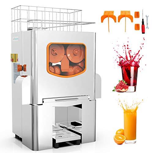 Commercial Orange Juicer Electric Orange Juice Squeezer Automatic Citrus Juice Machine Lemonade Making Machine, Heavy Duty Stainless Steel Cover, 120 Watts