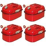 ガソリン携行缶 20L×4個セット [消防法適合品]/亜鉛メッキ鋼板