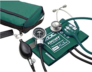 ADC Pro`s Combo III Adult Pocket Aneroid/Clinician Scope Kit with Prosphyg 778 Blood Pressure Sphygmomanometer and Adscope 603 Stethoscope with Carrying Case, Teal