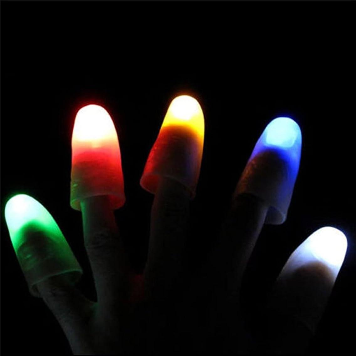 WskLinft 2Pcs Magic Super Bright Light Up Thumbs Fingers Party Club Christmas Trick - Random Color