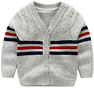 XIAOHAWANG Baby Sweater Boys Girls Cardigan Toddler Knit Coats Toddler Warm Outerwear Spring Autumn