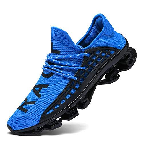 CAGAYA Sportschuhe Herren Laufschuhe Sneaker Mesh Atmungsaktive Sport Damen Turnschuhe Freizeitschuhe Schuhe größe 36-48 (45 EU, Blau)