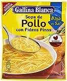 Gallina Blanca - Sopa de Pollo con Fideos Finos Bajo en Sal - 68g...