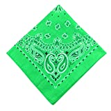Watonic Bandanas for Men & Women - Cotton Bandana + Soft & Durable 5555cm(J)