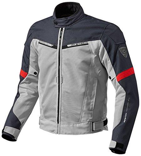 FJT201 - 4020-M - Rev It Airwave 2 Motorcycle Jacket M Silver Red