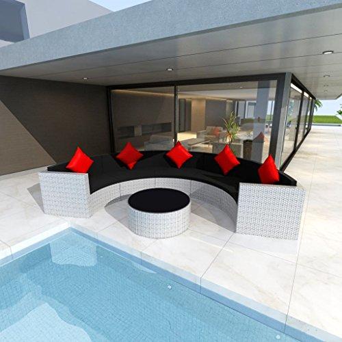 furnituredeals Ensemble canapés de jardin 21 pièces en polyrotin modulaire Blanc.Ce lot de haute qualité sont robuste et résistant.Idéal pour jardins et extérieur