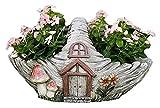 WQQLQX Statue Garten Skulptur Statue Pilz Holzhaus Garten Dekoration Blume Pot Ornamente Zement Outdoor Gartenarbeit Handkräftelschmuck Zubehör Skulpturen