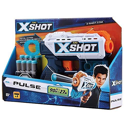 Grandi Giochi GG46018-X-Shot Pulse pistola con dardi, Multicolore, GG46018