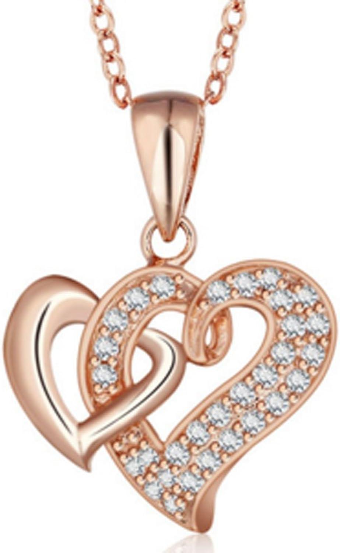 SaySure - Heart Design 925 Sterling Silber Rosa Gold Plated Plated Plated Necklaces B017G40J9Y  Jeder beschriebene Artikel ist verfügbar 978202