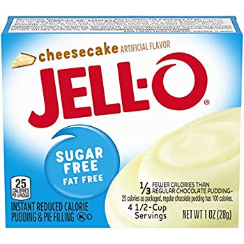 Jell-O Instant Cheesecake Sugar-Free Fat Free Pudding & Pie Filling  1 oz Boxes Pack of 24