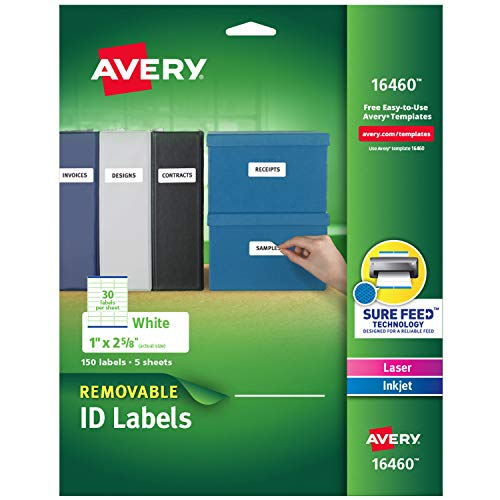 Avery Removable Multipurpose Labels, 1 x 2.625