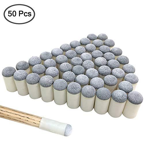 YuCool - Puntas de Repuesto para Tacos de Billar (50 Unidades, 13 mm)