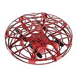 QKa Fidget Spinner, vol Drones Jouets, Mini actionnés manuellement hélicoptère UFO, Facile à la Main intérieure contrôlée Volant Balle Drone pour Les garçons ou Les Filles,Rouge,1Pack