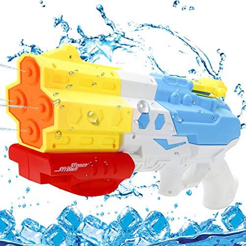 EPCHOO Wasserpistole, 1200ML Groß Water Blaster Water Gun Spielzeug mit 8-10 Meter Reichweite für Party Blaster Badestrand Sommer Pool Wasserschütze Wasserspielzeug