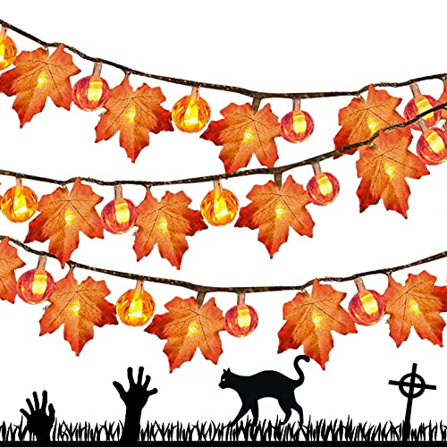 Qikafan Halloween Hanging Ornament, LED Warm Color Halloween Decoration...