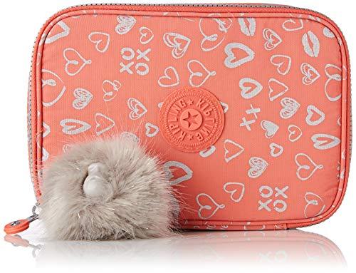 Kipling 100 Pens Estuche Grande, Multicolores (Hearty Pink Met)