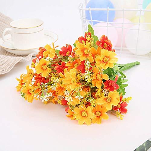 MAKG Künstliche Blumen, kleine Gänseblümchen, Seidenblumen, geeignet für Wohnzimmertisch, Bühnendekoration