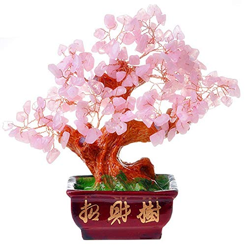 zxb-shop Luck and Wealth Crystal Tree Natural Crystal Lucky Tree Furnishings Gem Tree Crystal Tree Decor for Home Office Living Room Decoration Bonsai Feng Shui Money Tree