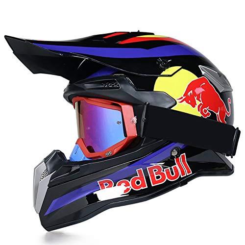 STRTG Casco Integral, Cascos de Motocross Casco de Motocicleta y Bicicleta Carcasa...